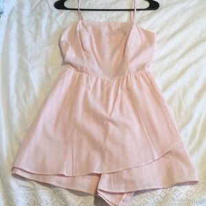 light pink and white romper